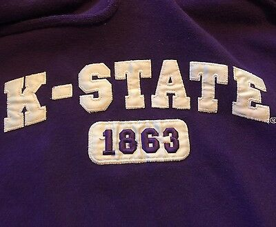 Mens K State Kansas State University Hooded Sweatshirt Hoodie Purple Sz XL