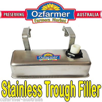 Stainless Automatic Water Trough Filler Stock Waterer Tank Bath Animal Cow