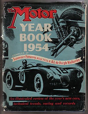 Motor Year Book 1954 annual giving new cars, technical trends, racing & records