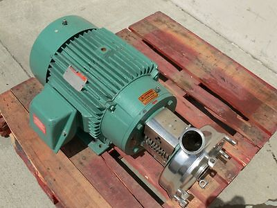 Tri-Clover CLW3285MEGK4EP Sanitary Centrifugal Pump w/ a 30 HP Reliance Motor
