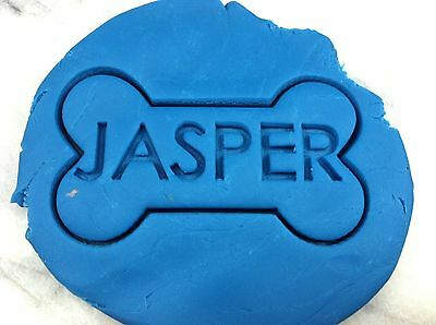 Custom Dog Bone Cookie Cutter CHOOSE YOUR OWN SIZE AND NAME!!! Biscuit Doggy