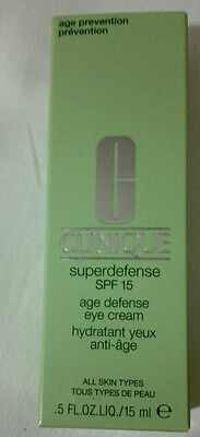 Clinique Superdefense SPF 15 Age Defense Eye Cream 15ml/0.5oz  BNIB