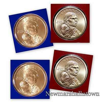 2015 P+D Native American Sacagawea Mint Set ~ Pos A+B PD in U S Mint Wrap