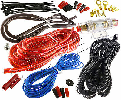 8 Gauge Amp Wire Only Kit Amplifier Install Wiring 8 Ga Installation Cables USA