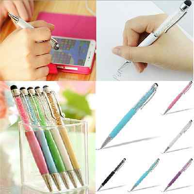 Stylish 2-in-1 Crystal Touch Screen Stylus Write Pen For iPhone iPad Tablet HTC