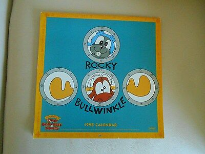 1998 Rocky & Bullwinkle CALENDAR, Mint, Large Wall Mount, Awesome Graphics!