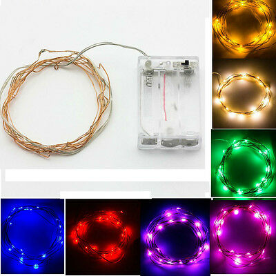 SUPERNIGHT Waterproof 2M Copper Wire Starry 20LEDs 7ft Flexible LED Light String