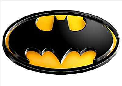 IRON ON TRANSFER FOR ANY COLOR TOP -BATMAN 3D LOOK - Size 20cm X 11cm