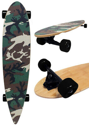 Army Camo PINTAIL LONGBOARD Skateboard COMPLETE 9 in x 43 in