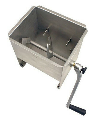 New MTN Manual Commercial Stainless Steel 32LBS Tank Hand Sausage Meat Mixer