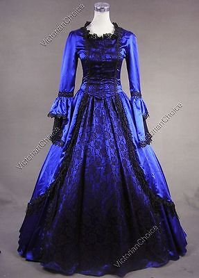 Marie Antoinette Renaissance Princess Dress Prom Gown Reenactment Costume 142