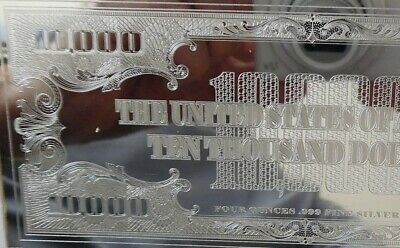 2 X 4oz SILVER CURRENCY BARS = 8 OZS DISCOUNTED! 2019 FRANKLIN $100 + COA FLAWS