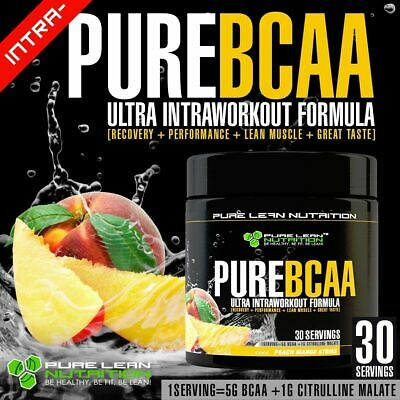 Pure Bcaa Intra Workout 30 Serves Peach Mango Branch Chain Amino Acids Recovery
