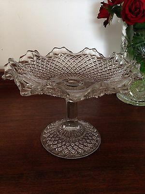 Stunning Vintage Pressed Glass Comport.