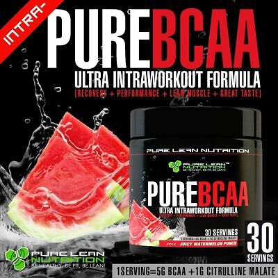 Pure Bcaa Intra Workout 30 Serves Watermelon Branch Chain Amino Acids Recovery