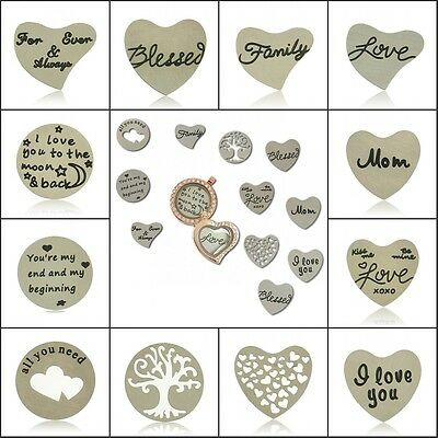 Stainless Steel Plate For 30mm Glass Floating Lockets Charms Living Memory Hot