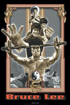 "Bruce Lee POSTER ""Nunchucks, Retro Style, 61x86cm, Dragon"" BRAND NEW Licensed"