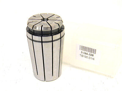 "NEW TOOLMEX TG100 x 1/4"" SINGLE ANGLE COLLET 3-166-328 TG-100 x .250"""