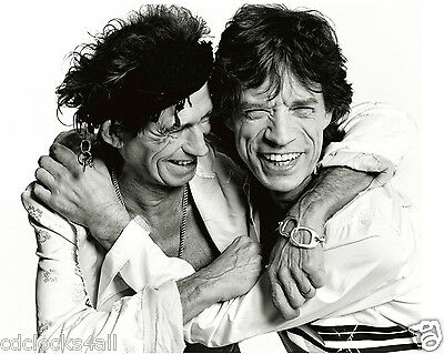 Mick Jagger & Keith Richards / Rolling Stones 8 x 10 GLOSSY Photo Picture