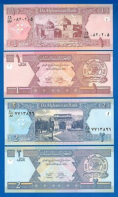Afghanistan Set #19A P-64 & 65 Year 2002-2004 Uncirculated FREE SHIPPING