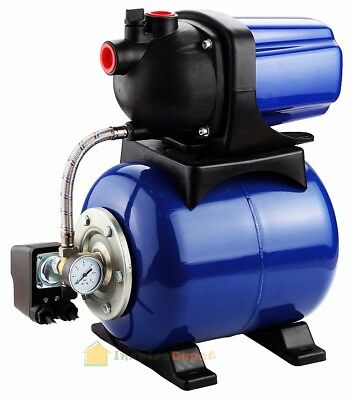 "1.6 HP 1"" Water Jet Pump Shallow Well Fountain Garden Lawn Sprinkler System"