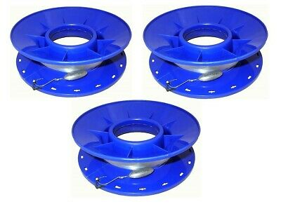 "3 X Jarvis Walker 60lb Pre Rigged 10"" Ring Caster Hand Lines - Bulk Pack"