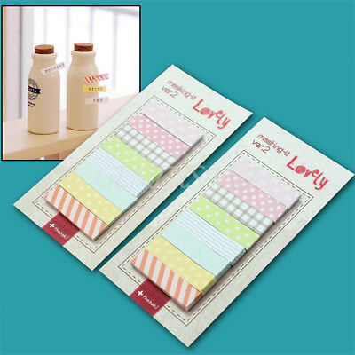 Pretty 2 Sets Bookmark Marker Sticker Cute Memo Flags Index Tab Sticky Notes New