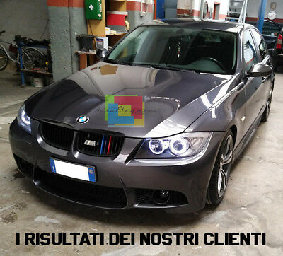 Fari Anteriori Angel Eyes Led Bmw Serie 3 E90 E91 Restyling 2005 - 2011