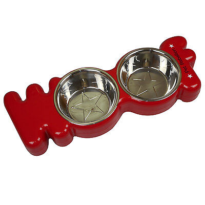 Pet Rebellion Woof Red Feed Bowl