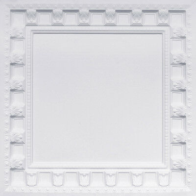 236 Lot Of 10 White Matt 2 X2 Pvc Decorative