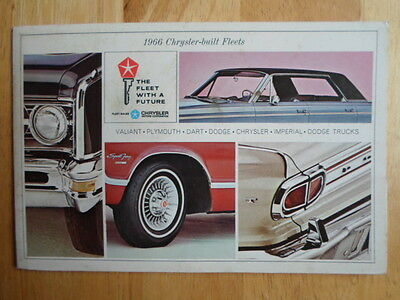 CHRYSLER DODGE IMPERIAL PLYMOUTH 1966 USA Mkt sales portfolio brochure - Valiant