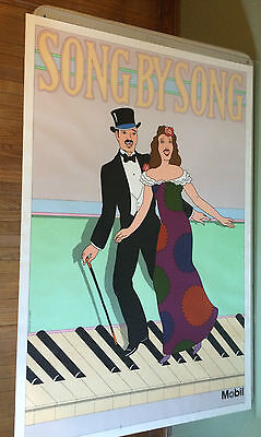 Seymour Chwast Vintage Poster on by Song PBS Television Promo Ad 1979 Broadway