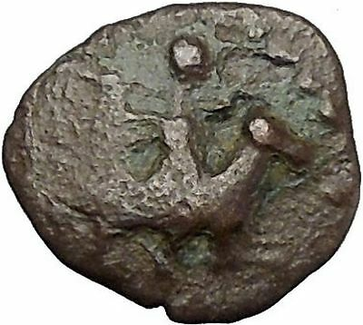 Authentic Ancient Greek City Coin 300-100BC Athena War Magic Countermark i50272