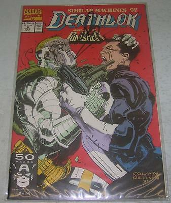 DEATHLOK #6 signed by DENYS COWAN w/ COA (Marvel 1991) PUNISHER app (VF+)