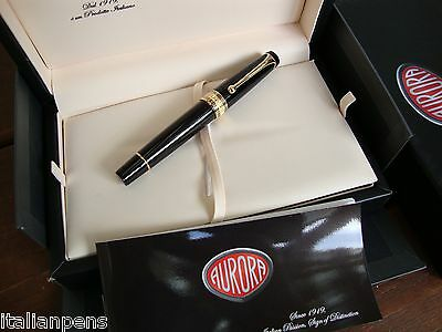 Aurora Optima Black Vermeil Fountain Pen