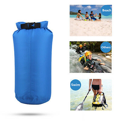 Waterproof Water Resistant Dry Bag Pouch 8L Blue Swimming Camping Hiking Beach