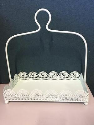 Rectangle Green Laser Cut Metal 1 Tier Cake Stand