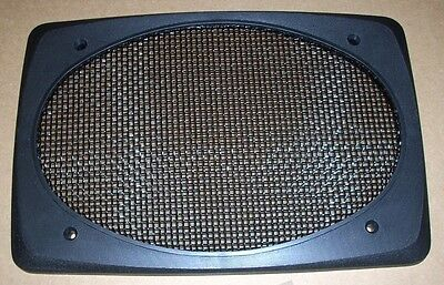 """Single- 6x9"""" SPEAKER GRILL SCREEN COVER: Black Deluxe Classic Homes Cars Boats"""