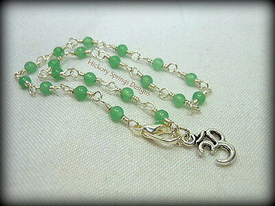 Aventurine Silver Wire Wrapped Anklet ~ Any Size