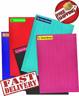 Custom Name Labels Stickers Book Tag School Childcare Toy Pencils pens Free Post