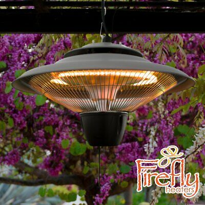 Charmant Ceiling Mounted Electric Hanging Patio Heater Halogen Garden Light Firefly  1.5kW