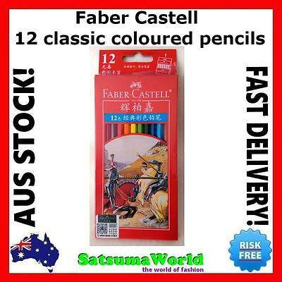 Faber Castell 12 Classic Pencils set home school stationery student art draw new
