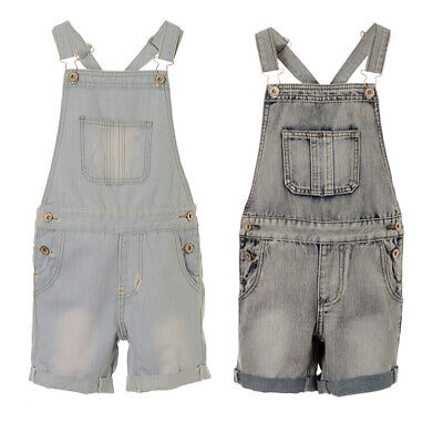 Girl's Denim Dungaree Shorts Kids Denim Playsuit Childrens All In One 7 8 9 10 1