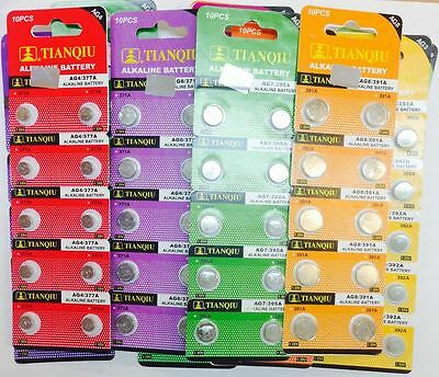 Pack of 10 Batteries 1.5v Alkaline Button/Game/Toy/Coin Cell Watch Battery