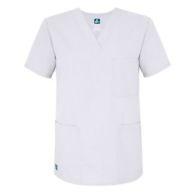 Adar Plus Size Men Women Medical Nursing Scrub Uniform 3 Pocket V-Neck Scrub Top