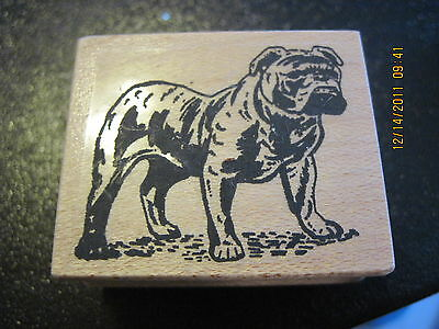 English Bulldog 122-8c dog Rubber Stamp Mounted Wooden NEW FREE SHIPPING