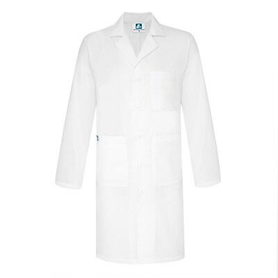 Adar Unisex Scrub Uniform V-Cut White Medical Consultation Jacket Lab Coat