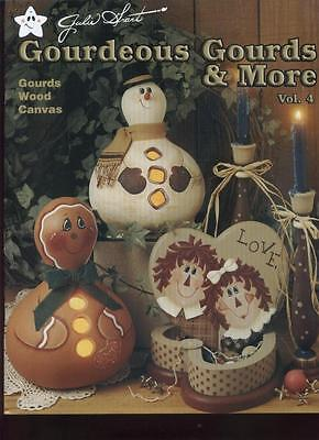 RARE Gourdeous Gourds & More Vol 4 Tole Folk Art Painting Patterns How To Book