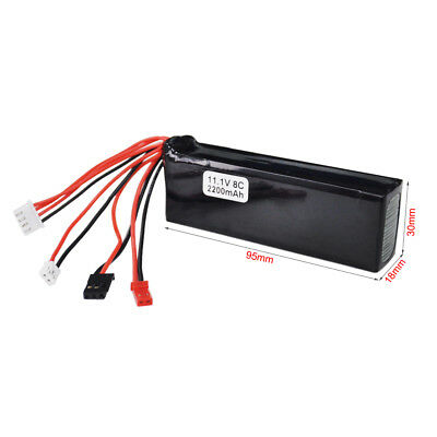 UK STOCK New 11.1V 2200mAh Lipo Battery For Walkera  DEVO 7/ 7E /10 Transmitter
