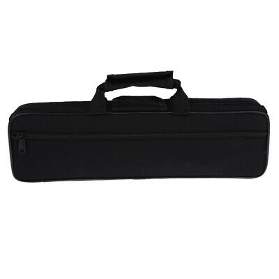 Classic Padded Flute Carry Case Bag Cover with Side Pocket Shoulder Strap